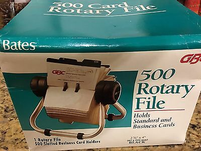 """Vintage New in Box Rolodex by GBC Bates 500 Rotary File Business Card 2 5/8 x 4"""""""