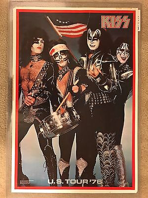 """Vintage Kiss Spirit Of 76' Poster 1976 Boutwell Aucoin Poster With """"Silver Logo"""""""