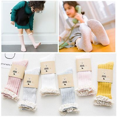 Spring Anti-slip Baby Socks Breathable Cotton Knee High for 3-5 Years