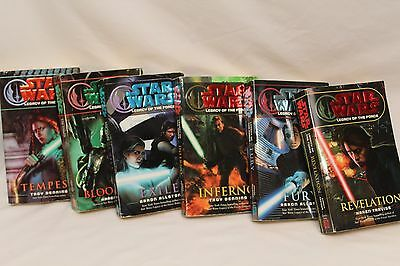 Star Wars 6 book lot Legacy of the Force