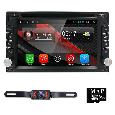 """Android 6.0 6.2"""" Double 2Din Car Radio Stereo DVD Player GPS Nav OBD2 4G WiFi HD"""