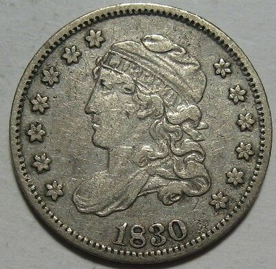 = 1830 VF/XF Bust Half Dime, Super Details & EYE Appeal, FREE Shipping