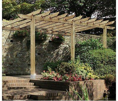 Grange Fencing Lean To/Car Port Pergola - 12 x 16ft. From the Argos Shop on ebay