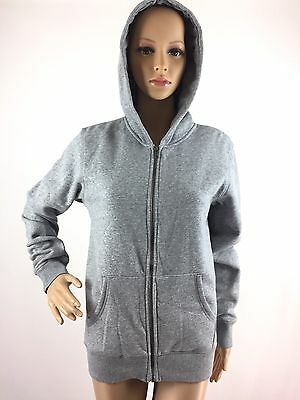 NWT H&M Hoodie Hooded Sweat Jacket Full Zip Up Gray Youth Kids 12-14 XL