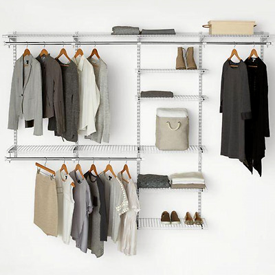 Rubbermaid 3H89 Configurations 4 To 8 Foot Deluxe Custom Closet Organizer  System