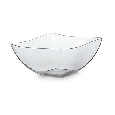 Fineline Settings 116-CL, 16 Oz. Clear Plastic Serving Bowls, 80/CS