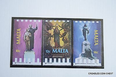 Malta Post Office Card 1988 March Religious Commemorations Set Of 3  #msp01