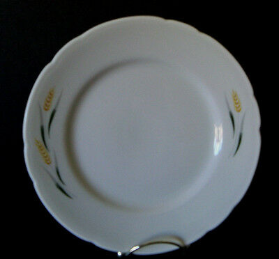 Vintage BUFFALO CHINA Restaurant Ware Wheat Salad Luncheon Plate / October 1948