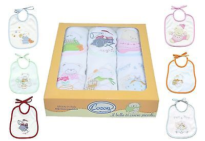 Scatolo 24 Bavaglini Lotto Bavaglie Lotto Stock Set Per Pappa Neonato Cm 17X19
