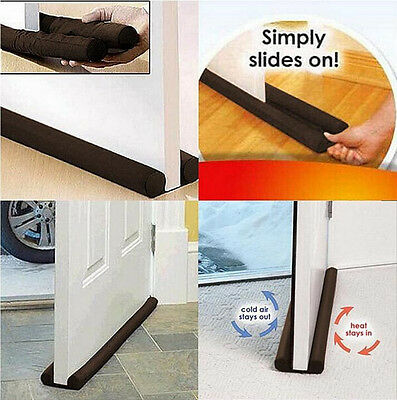 1Pcs Guard Stopper Door Home Twin Doorstop Protector Draft Dodger Energy Saving