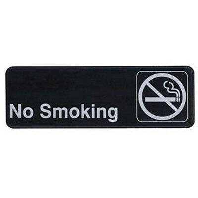 Winco SGN-310, No Smoking Information Sign, Black
