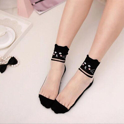 Elastic Ankle Socks 1 Pairs Knit Comfy Cotton Mesh Lace Sock New Women