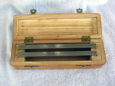 2 Vintage R. Jung  Microtome Blades For Leitz Wetzlar1212 Microtome  W/Oak Case