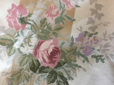Laura Ashley Vintage Fabric Antique Rose Gold French Chateau Country House Chic
