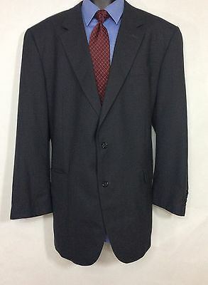 Mens Gray Microcheck  JOS A BANK Suit Jacket | 100% Wool 2 Button Sport Coat 50L