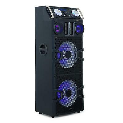 Malone Big Party 2500 Dj-Party-Audiosystem Usb Mp3 Led-Effekte Karaoke 240 W Rms
