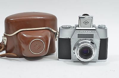 GORGEOUS AGFA COLORFLEX 35mm CAMERA GERMANY w/COLOR APOTAR 50mm F2.8, CASE