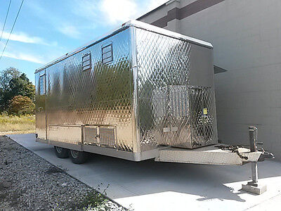 Concession trailer, quilted stainless, tow-able