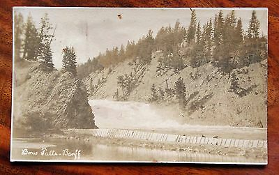 Vintage Photo Postcard Rp Canada B.c. Bow Falls Banff