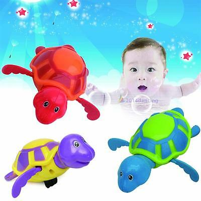 Hot Wind-up Tortue Piscine Bath Time Animaux Clockwork Kids Baby Toy Floating DD