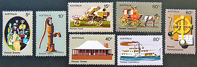 1972 Australian Stamps - Pioneer Life in Australia Definitives - Set of 7 MNH