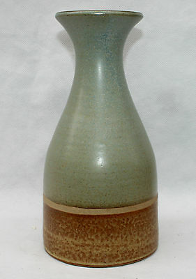 Jersey Studio Art Pottery Retro Banded Bottle Vase Flask Artist signed C I