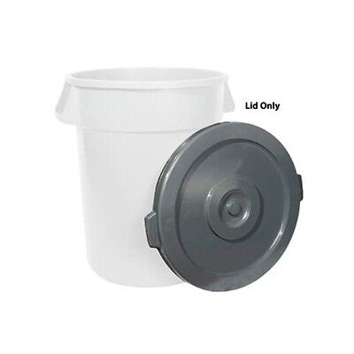 Winco PTCL-44, 44-Gallon Grey Trash Can Lid for PTC-44G