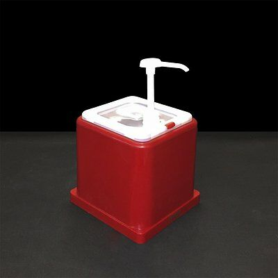 Prestoware PWKE-R, 0.5-Gallon Red Condiment Pump Dispenser for Ketchup