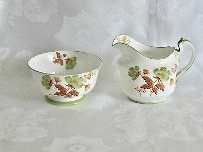 Collectable Art Deco Fine China Aynsley   Sugar Bowl & Creamer England