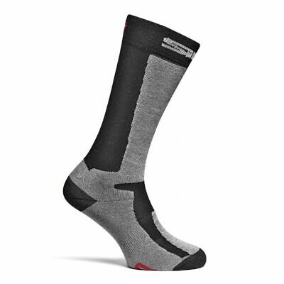 Sidi Mugello Motorcycle Motorbike Long Race Boot Tech Socks - Black/Grey