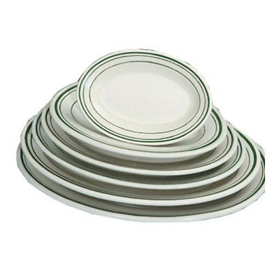 "Yanco GB-12, 10 3/8"" Green Brim Platter, 48-Piece Case"