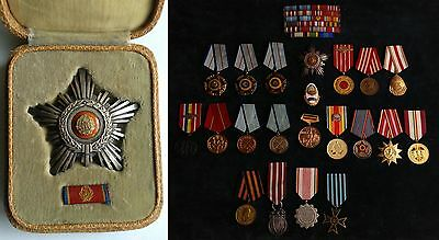 STAR OF ROMANIA ORDER awarded to famous general Romanian Army 1960's RPR medal