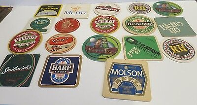Coasters Logos Domestic & Foreign Barware Lot of 18