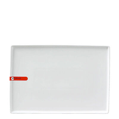 "Miya X15010, 10.25""x7"" White Rectangular Plate, 24-Piece Case"