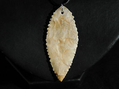 An Ancient Serrated North African Arrowhead Made into a Pendant Niger 7.71 e