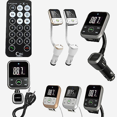 Bluetooth wireles LCD for car mp3 player fm transmiter Remote SDUSB Charger Kit