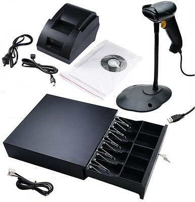 Quickbooks POS: USB Thermal Receipt Printer, Barcode Scanner, Cash Drawer