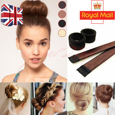 Women Hair Styling Donut Former Foam French Dish Twist Easy DIY Tool Bun Maker