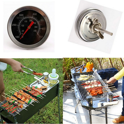 Barbecue BBQ Stainless Steel Smoker Grill Thermometer Temperature Gauge 50-500℃