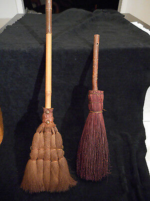 Nice Lot Of 2  Antique/vintage Hearth Brooms