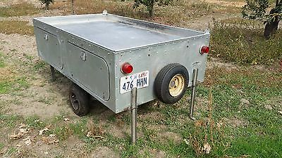 1961 JC HIGGINS Sears Roebuck Camping Tent Trailer in Exceptional Condition