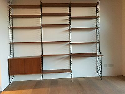 Vintage Mid Century Modern Wall Unit by Nisse Strinning for String 1950/60's