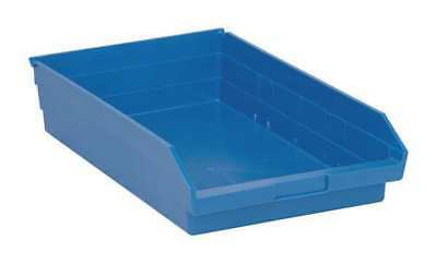 "Blue Shelf Bin, 17-7/8""L x 11-1/8""W x 4""H QUANTUM STORAGE SYSTEMS QSB110BL"
