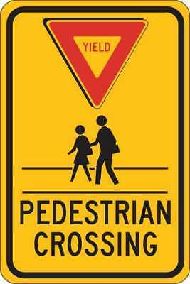 Traffic Sign,18 x 12In,Blk and Red/Yllw BRADY 124398