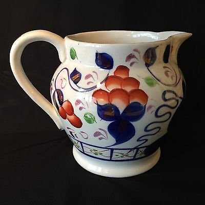 19th Century GAUDY WELSH Unmarked 'Oyster' Pattern MILK JUG