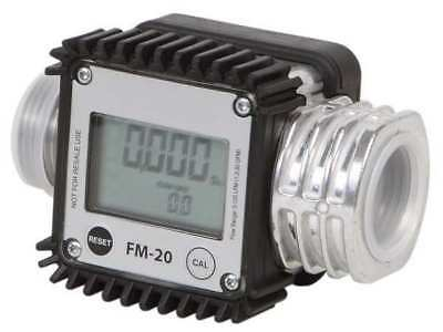 Flowmeter,Digital,1 In,1.3 to 32 gpm DAYTON 40M285