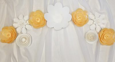4 Beautiful Giant 3D Paper Flower Wall Decor, Birthday, Event, Wedding