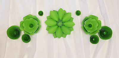 4 Beautiful Giant 3D Paper Flower 12' Wall Decor, Birthday, Event, Wedding (Red)