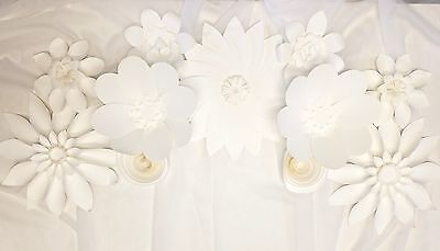 4 Beautiful Giant  Paper Flower 12' Wall Decor, Birthday, Event, Wedding (Green)