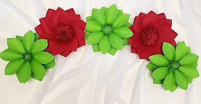 4 Beautiful Giant Paper Flower 12' Wall Decor, Birthday, Event, Wedding (Black)